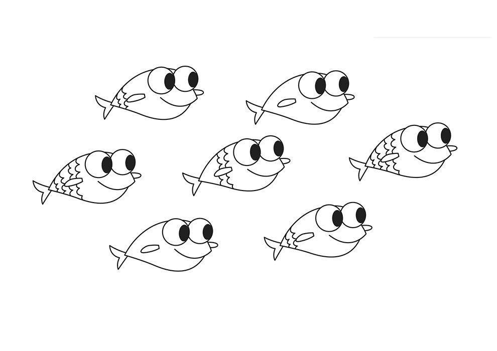 Baby Shark Desenho para Colorir