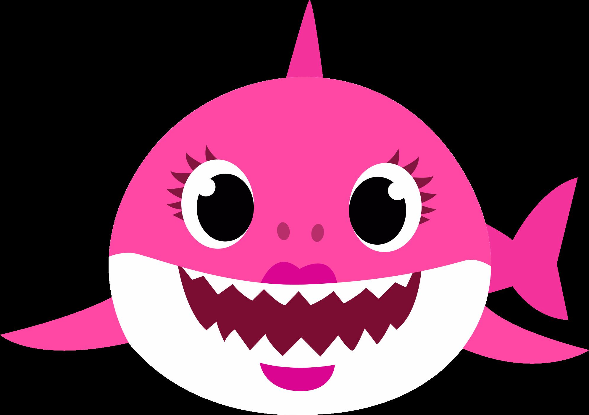 Baby Shark Rosa PNG - Mamãe Shark PNG - FUNDO TRANSPARENTE