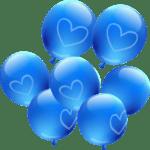 Balão Azul Corção PNG