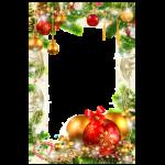 Bela Moldura de Natal para Fotos PNG