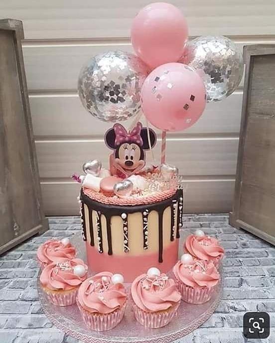 88 Melhores Imagens De Bolo Da Minnie Mouse Rosa
