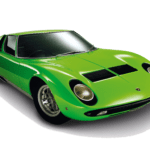 Carro Lamboghini Verde PNG