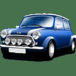Carro Mini Cooper PNG Azul