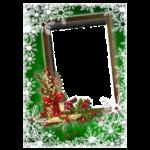 Desenho Moldura de Natal para Fotos PNG