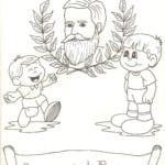Desenho Proclamação da Republica para Colorir