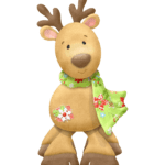 Desenho Rudolph Rena de Natal PNG