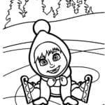 Desenho da Masha e o Urso para Colorir e Imprimir