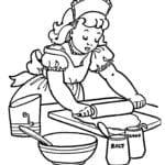 Desenho de Cozinheira para Pintar
