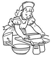 Desenho de Cozinheira para Colorir