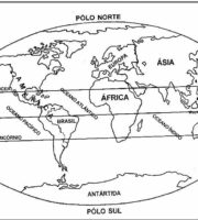 Desenho de Geografia para Colorir