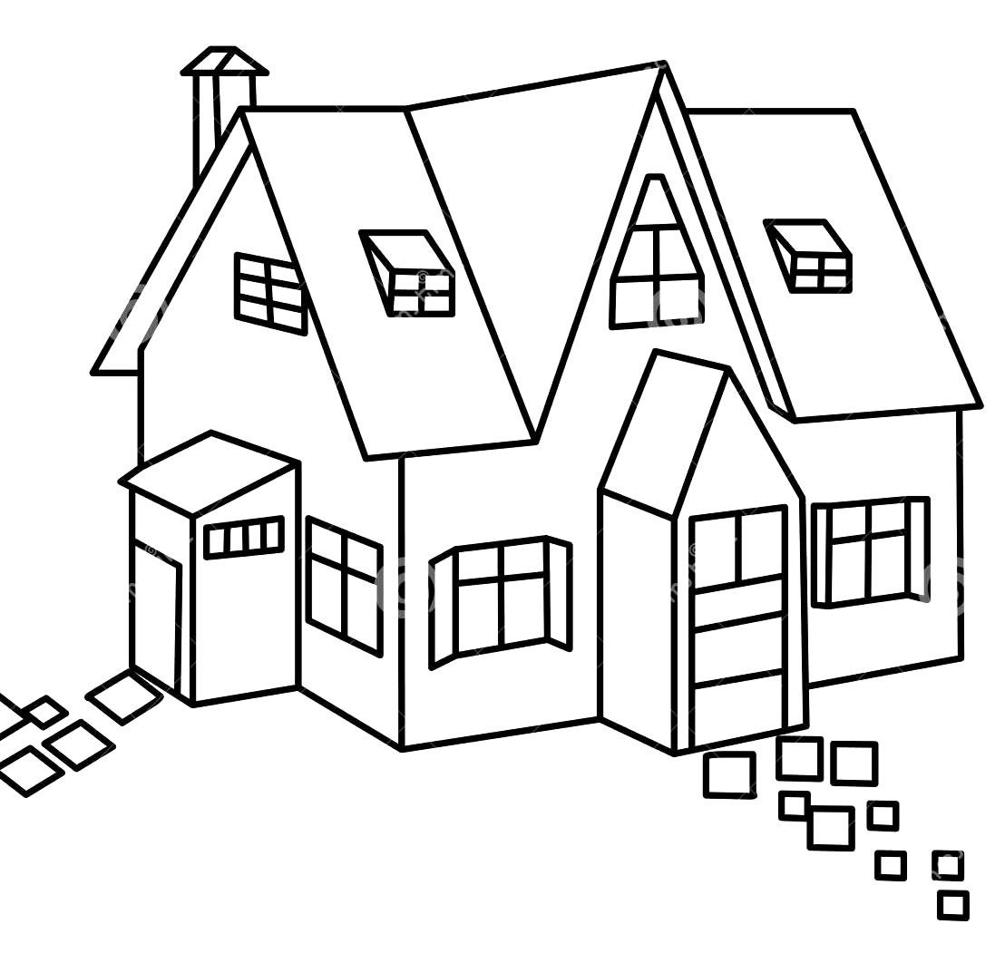Desenho para Colorir Casinha