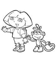 Figuras da Dora a Aventureira para Colorir e Imprimir