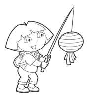 Desenhos da Dora a Aventureira para Colorir e Imprimir