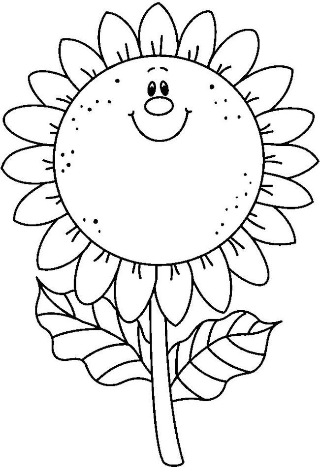 Desenhos para Colorir Girassol