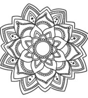 Desenhos para Colorir Mandala