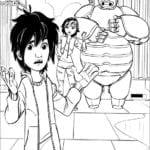 Imagens para colorir Big Hero 6