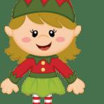 Duende Natal Vetor PNG