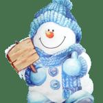 Figura Boneco de Neve PNG
