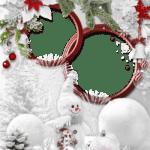 Foto Moldura de Natal para Fotos PNG