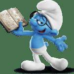 Figura Smurf Gênio PNG