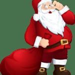 Figura de Papai Noel PNG