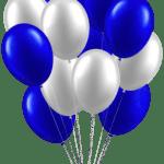 Ilustração de Balão Azul PNG