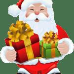 Ilustração de Papai Noel Cute PNG