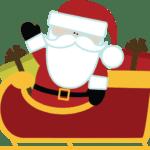 Ilustração de Papai Noel de Trenó PNG