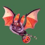 Ilustração morcego halloween PNG