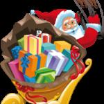 Imagem Papai Noel de Trenó PNG