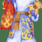 Imagem de Papai Noel Azul PNG – Santa Claus PNG