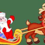 Imagem de Papai Noel de Trenó PNG