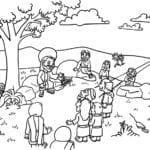 Desenhos para Colorir – Jesus Fazendo a Pregação
