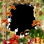 Imagem Moldura de Natal para Fotos PNG