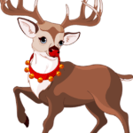 Nariz Vermelho Rena de Natal PNG