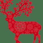 Ornamento Rena de Natal PNG