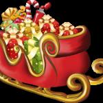 Trenó Papai Noel PNG