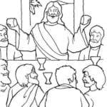 Desenhos para Colorir – Jesus na Santa Ceia