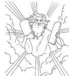 Desenhos Religioso para Colorir de Moisés