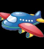 Avião Colorido em PNG