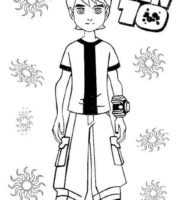 Desenhos para Pintar - Desenhos do Ben Dez Colorido para Imprimir