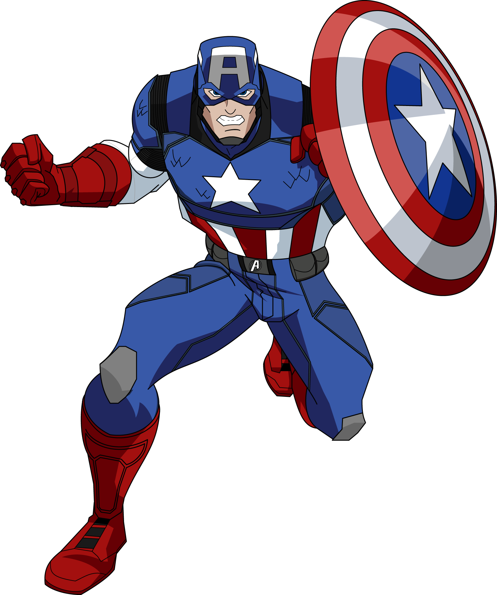 Ilustração Avengers Capitão América PNG - CAPTAIN AMERICA PNG
