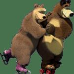Cartoon Masha e o Urso PNG