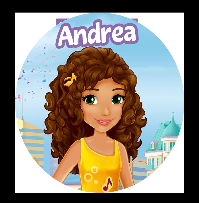 Andrea Lego Friends COM FUNDO TRANSPARENTE GRÁTIS