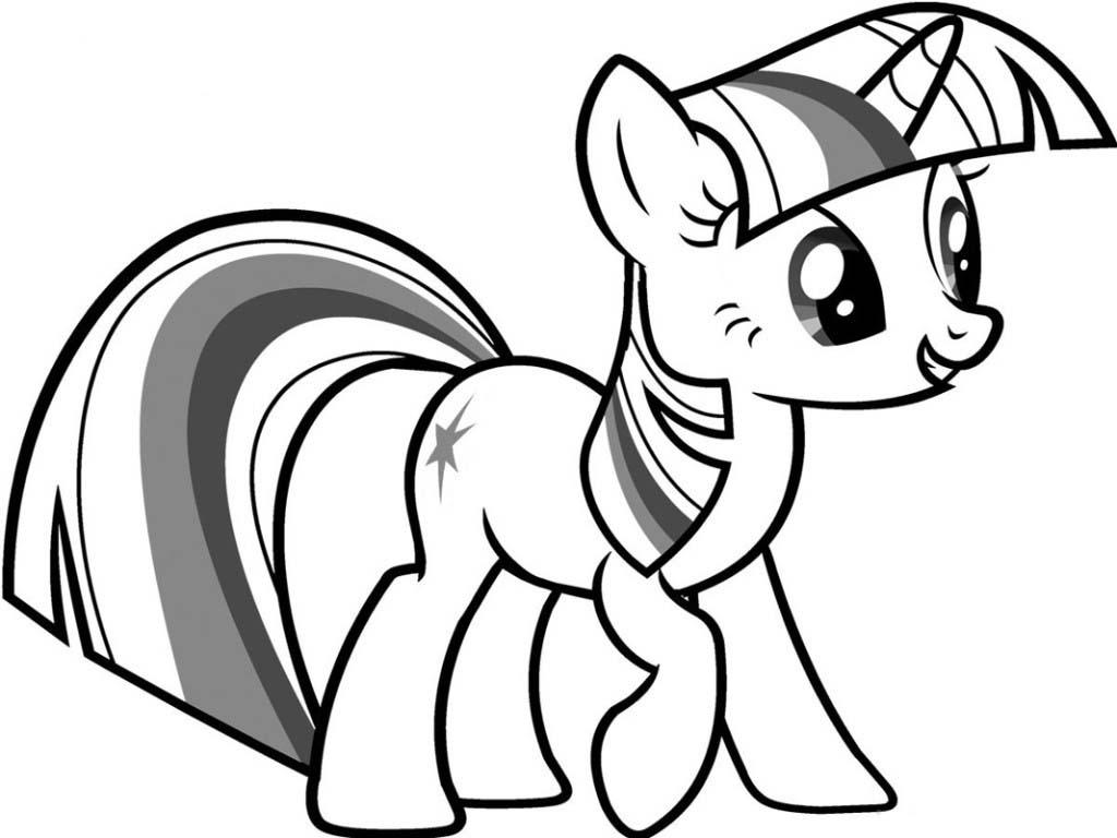desenho para colorir de twilight sparkle my little pony