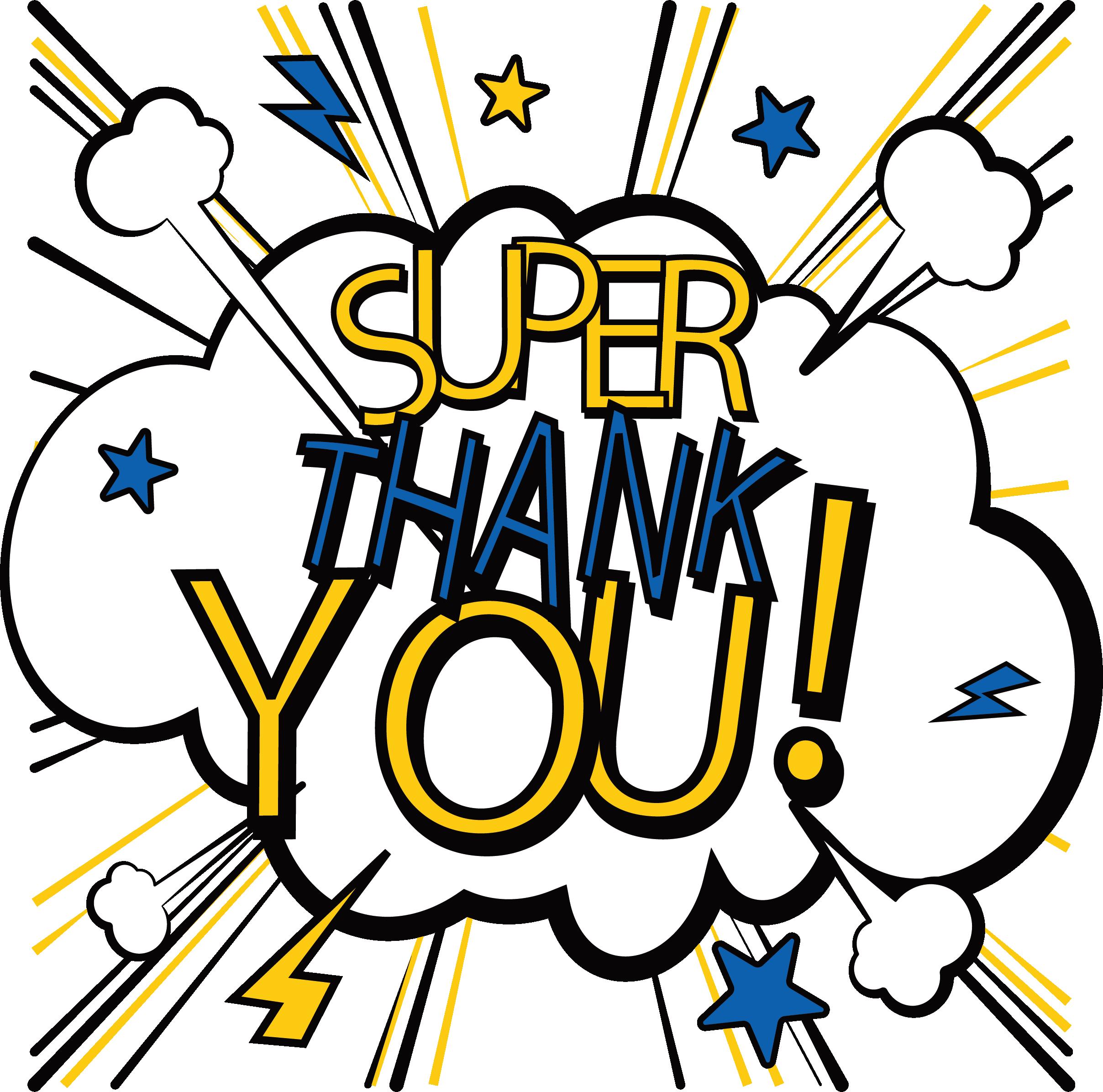 Figura Thank You PNG com fundo transparente grátis