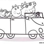 Peppa Pig Coloring Page With Friends